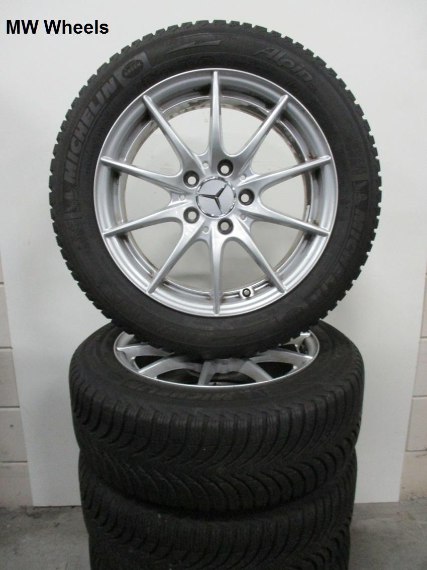 Mercedes 16 Inch Velgen C Klasse W204 Winterbanden 8 Mm